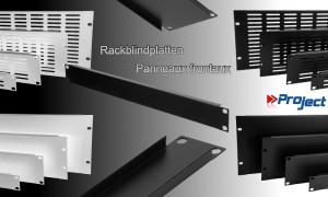 "PROJECT 19"" ALU-Rackblindplatten mit Lüftungsschlitzen - schwarz + silbergrau"