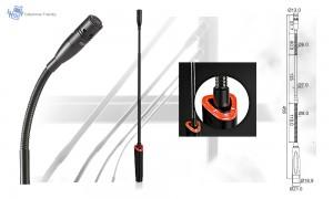 SONIC JTS-5212SW Schwanenhals-Mikrofon mit Ein/Aus-Schalter