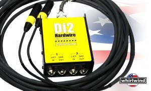WHIRLWIND DI-2 Hardwired 2-kanalige passive DI-Box mit Multicore