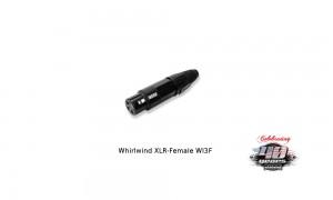 WHIRLWIND XLR/F-Stecker weiblich - WI3F - schwarz