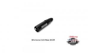 WHIRLWIND XLR/M-Stecker männlich - WI3M - schwarz